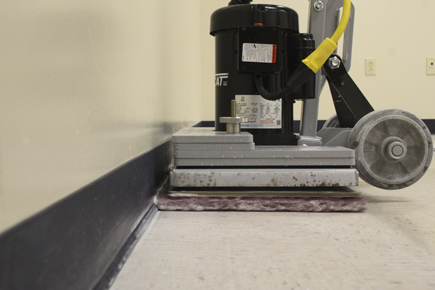 Tomcat EDGE® Orbital Floor Scrubbers Can Get Right Up To the Wall and Not Damage It