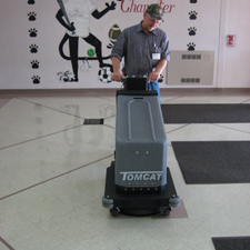 200 Walk Behind Floor Burnisher Works Wonders in Schools