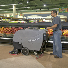 Magnum Floor Scrubber In a Grocery Store
