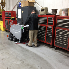 floor scrubber dryer: magnum walk behind commercial floor cleaning