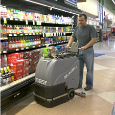 MicroMag Floor Scrubber Easily Can Work In Public During Business Hours