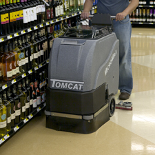 MicroMag Floor Scrubber Cleans Up a Grocery Store