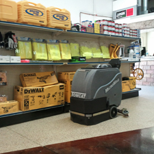 MicroMag Floor Scrubber Dryer Cleans Up a Hardware Store
