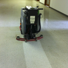 MiniMag Floor Scrubber Being Used for General Cleaning