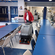 MiniMag Floor Scrubber Dryer Cleaning A Lunch Room