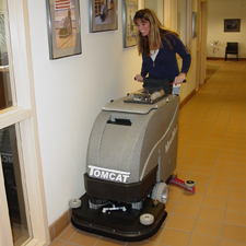 MiniMag Floor Scrubber Dryer Being Used for General Cleaning