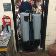 floor scrubber dryer: rs microrider commercial floor cleaning