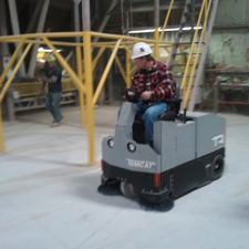 TR Floor Sweeper Cleaning a Factory