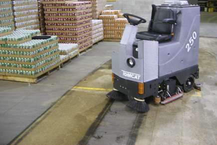 floor scrubber-sweeper: gtx rider floor scrubber-sweeper machine