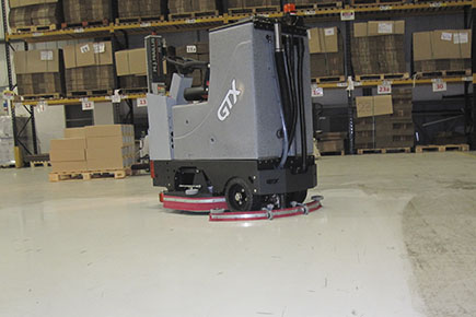 GTX Floor Scrubber Dryer Cleaning Epoxy Floor