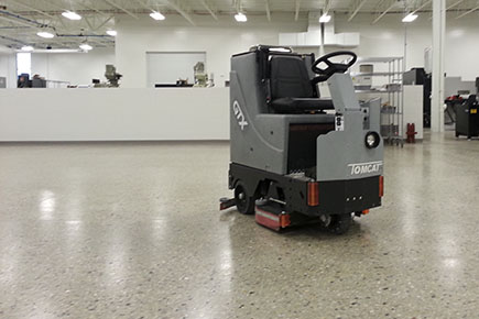 GTX Floor Scrubber Dryer Cleaning Natural Stone Floors