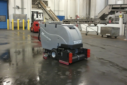 Magnum Walk Behind Scrubber-Sweeper