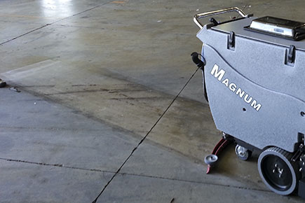 Magnum Floor Scrubber Dryer Cleaning Boat Storage Facility