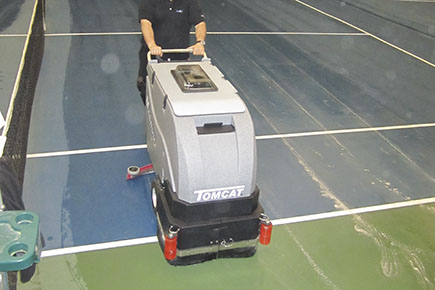 Magnum Floor Scrubber Dryer Cleaning Indoor Tennis Court