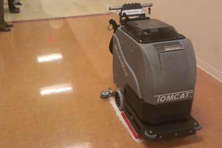 orbital scrubber: micromag walk behind floor scrubber machine