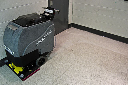 orbital scrubber: micromini walk behind floor scrubber machine