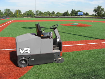 VR Rider Sweeper Cleaning Outdoor Astro Turf Baseball Diamond