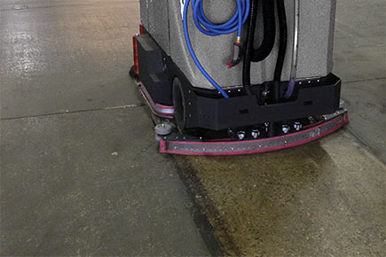 XR Floor Scrubber-Sweeper Cleaning Commercial Warehouse Concrete Floor
