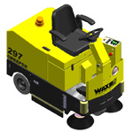 297 Series Commercial Floor Sweeper