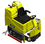 350 Series Commercial Floor Scrubber