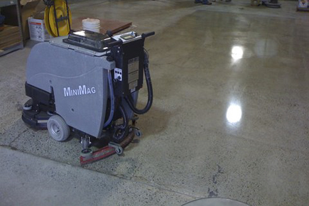 Tomcat Diamond Polishing System you can smoothe and polish your floors to a brilliant shine